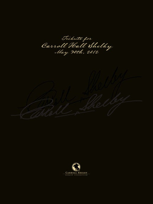Image of Carroll Shelby Memorial Booklet
