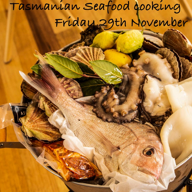 Image of Tasmanian Seafood cooking 29th November 2019