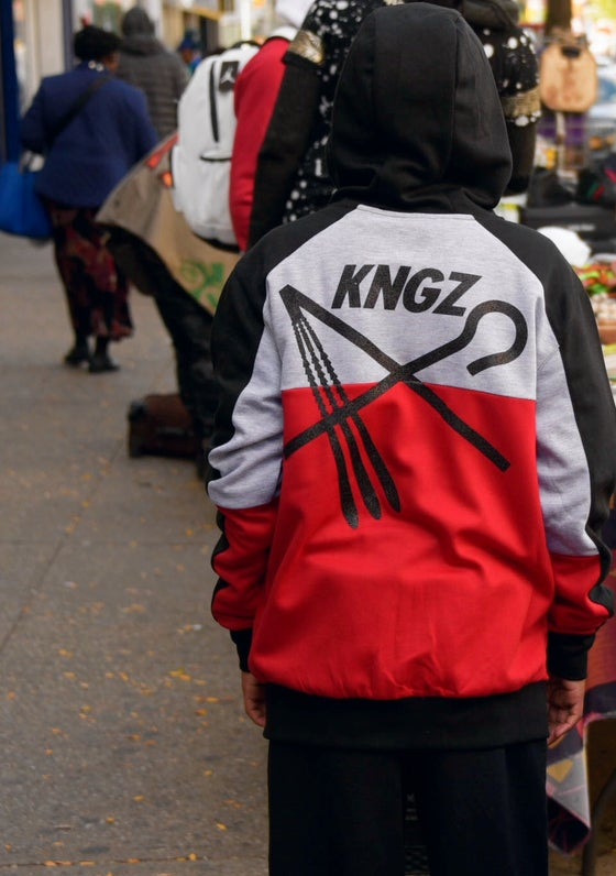 Image of KNGZKNTY RED/GRY/BLK JOGGER