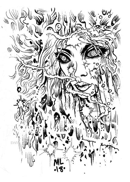 Image of SPELL inked artwork