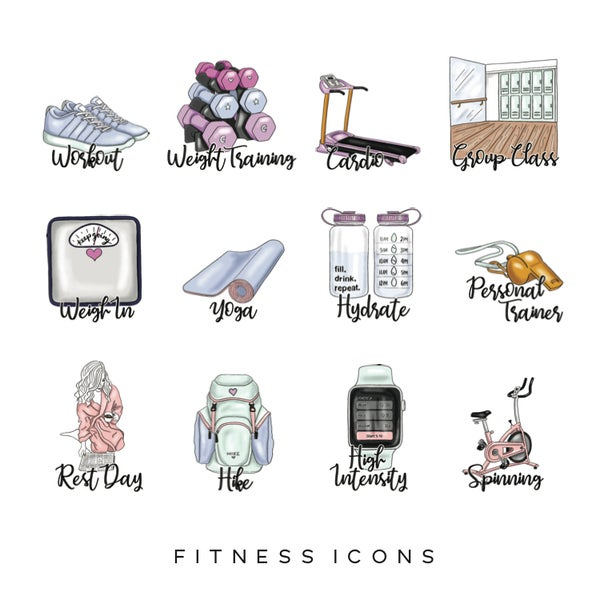 Image of Fitness Planner Icons