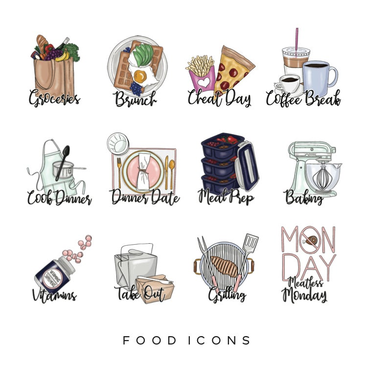 Image of Food Planner Icons
