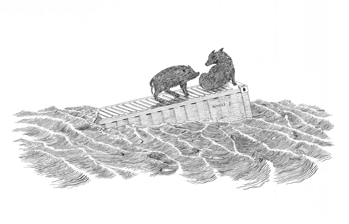 Image of Hog Heaven- Letterpress Print