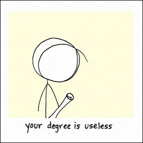 Image of your degree is useless