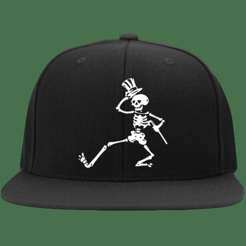 Image of EMBROIDERED DANCING SKELETON SNAPBACK HAT!