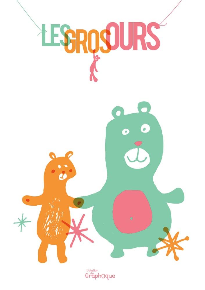 Image of Petit cadre décoratif - Les Gros ours