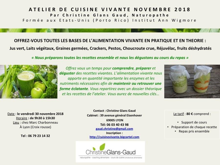 Image of Atelier Cuisine vivante le 30 novembre à la Croix-Rousse