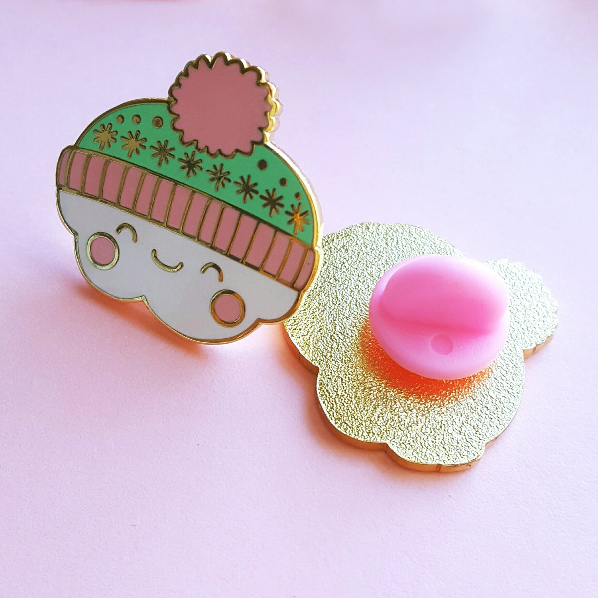 Clarence the Cosy Bobble Hat Cloud - Hard Enamel Pin