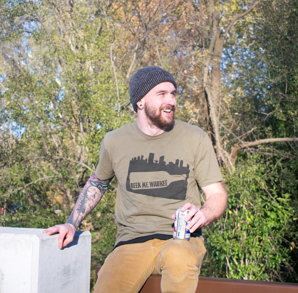 Image of Lieutenant Green Bottle Skyline Tee