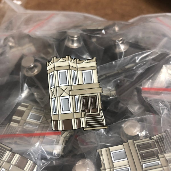 Image of Chicago Greystone Pin
