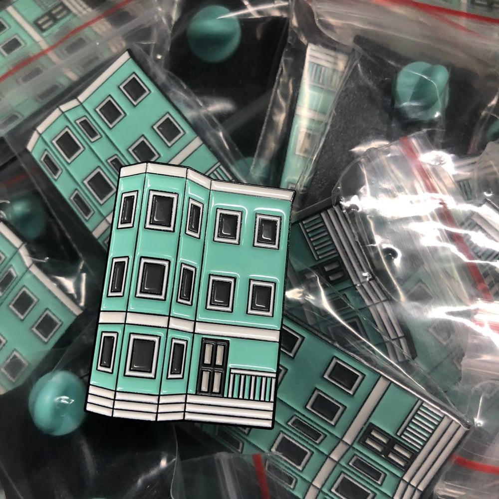Image of Teal Triple-Decker Pin