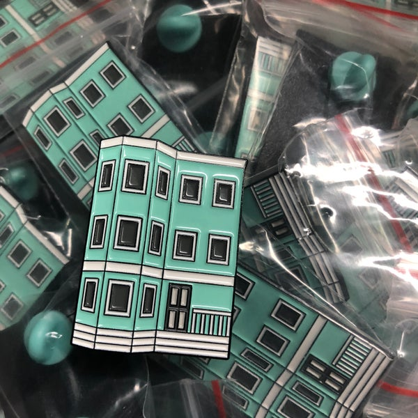 Image of Teal Triple-Decker Pin