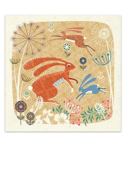 Image of Hare Geoprint Card