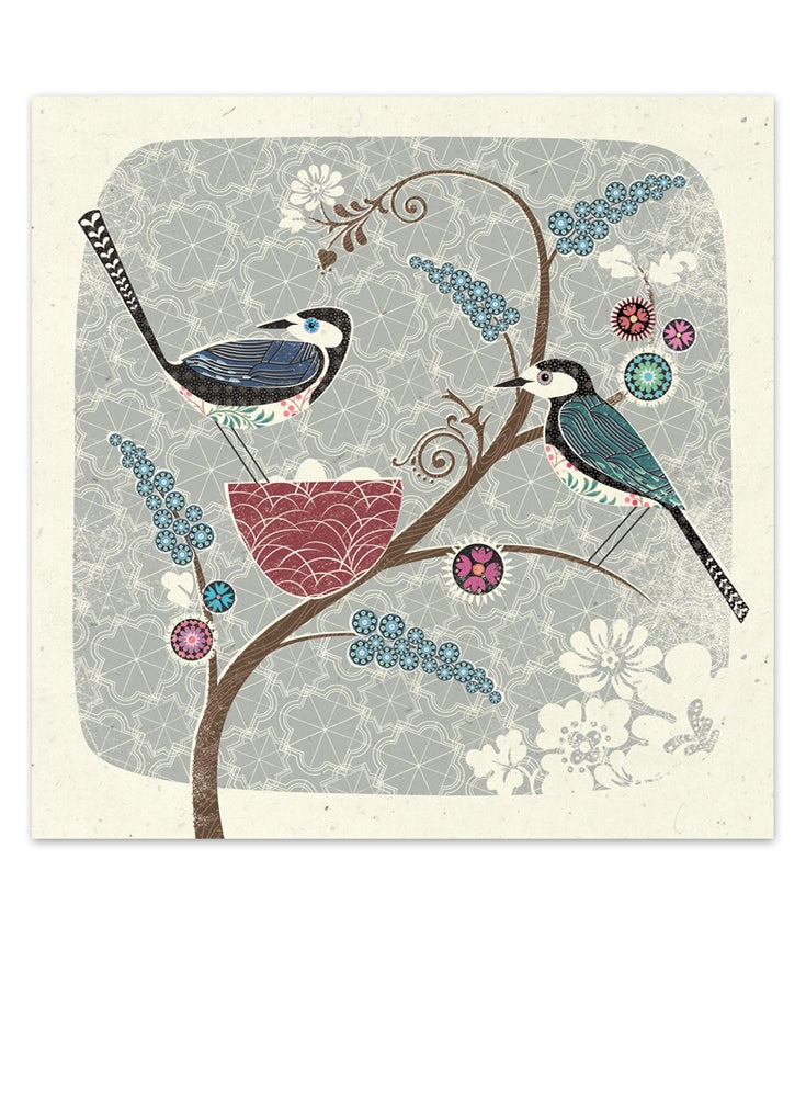 Image of Bird Geoprint Card