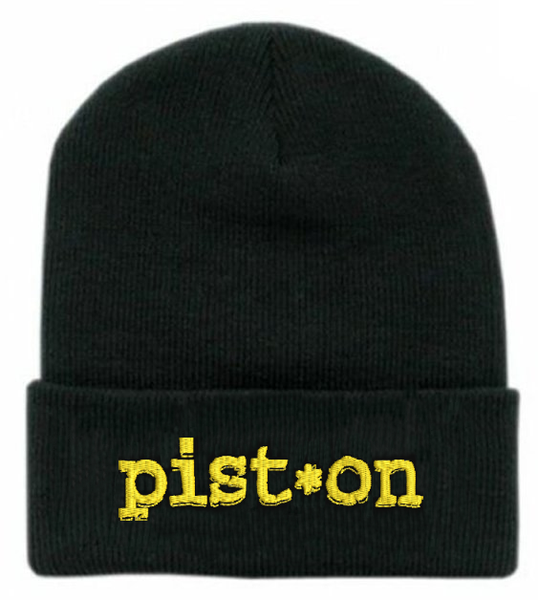 Image of Pist.On - Black Logo Beanie