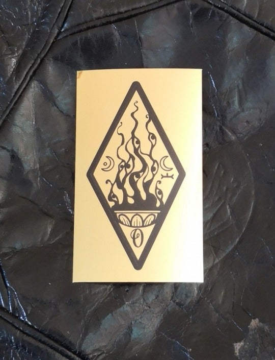 Image of An Ode to Divine & Dirt Glyph foil sticker