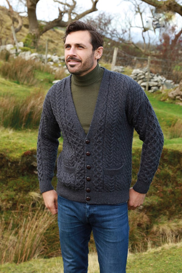 Image of V-neck Aran Cardigan