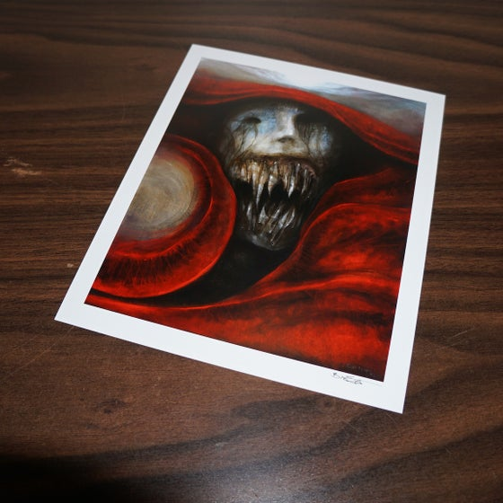 Image of untitled crying portrait, signed archival print