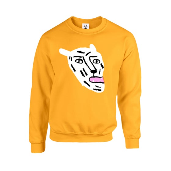 Image of White Cat - Adults Gold Sweatshirt
