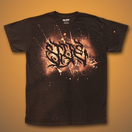 Image of Halloween Tag Bleach Dyed Shirt