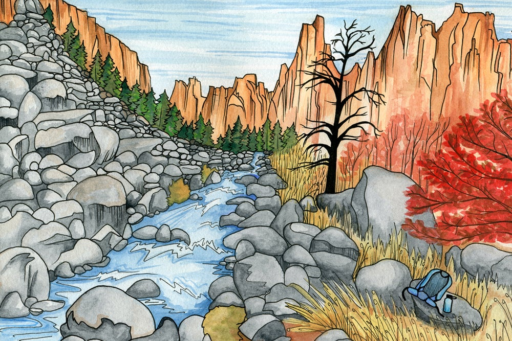 Image of Smith Rock Gorge art print