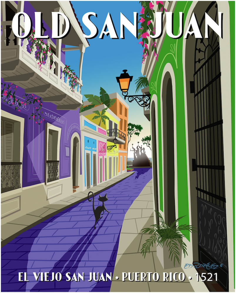 "Image of El Alcade (Mayor of Old San Juan) 11x14"" Matted Print (8x10"" Image) FREE SHIPPING"