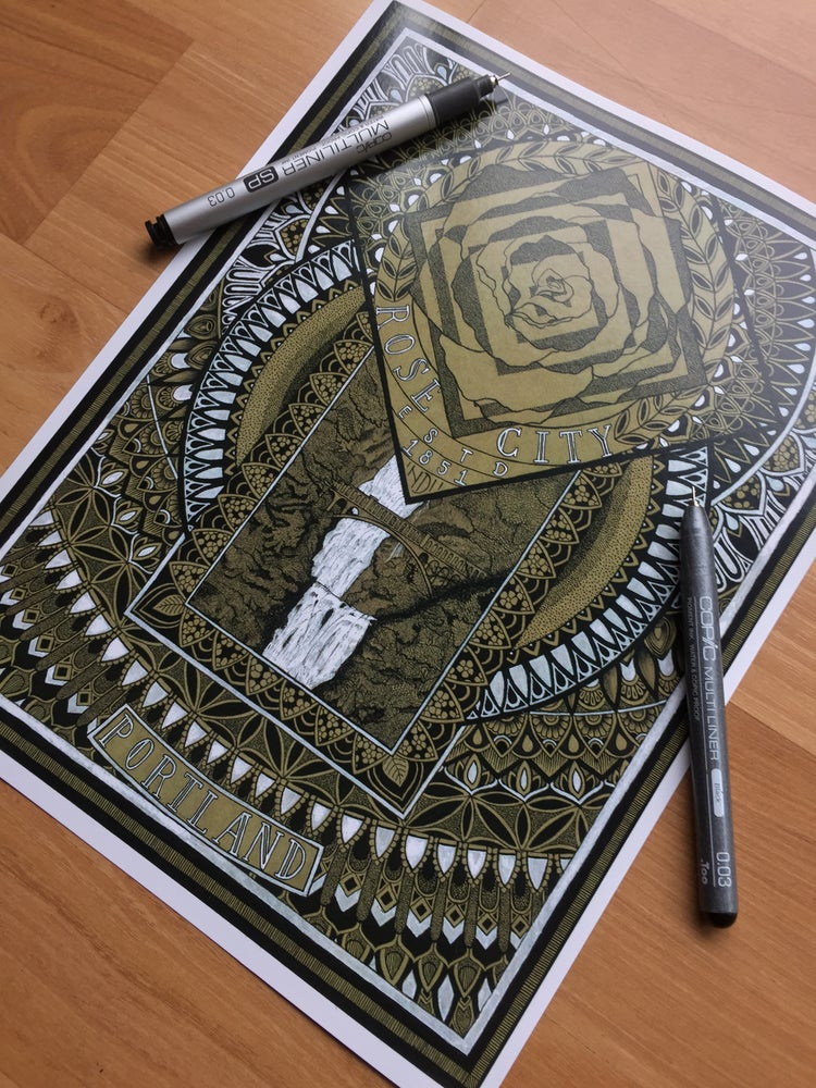 "Image of ""Rose City"" Print"