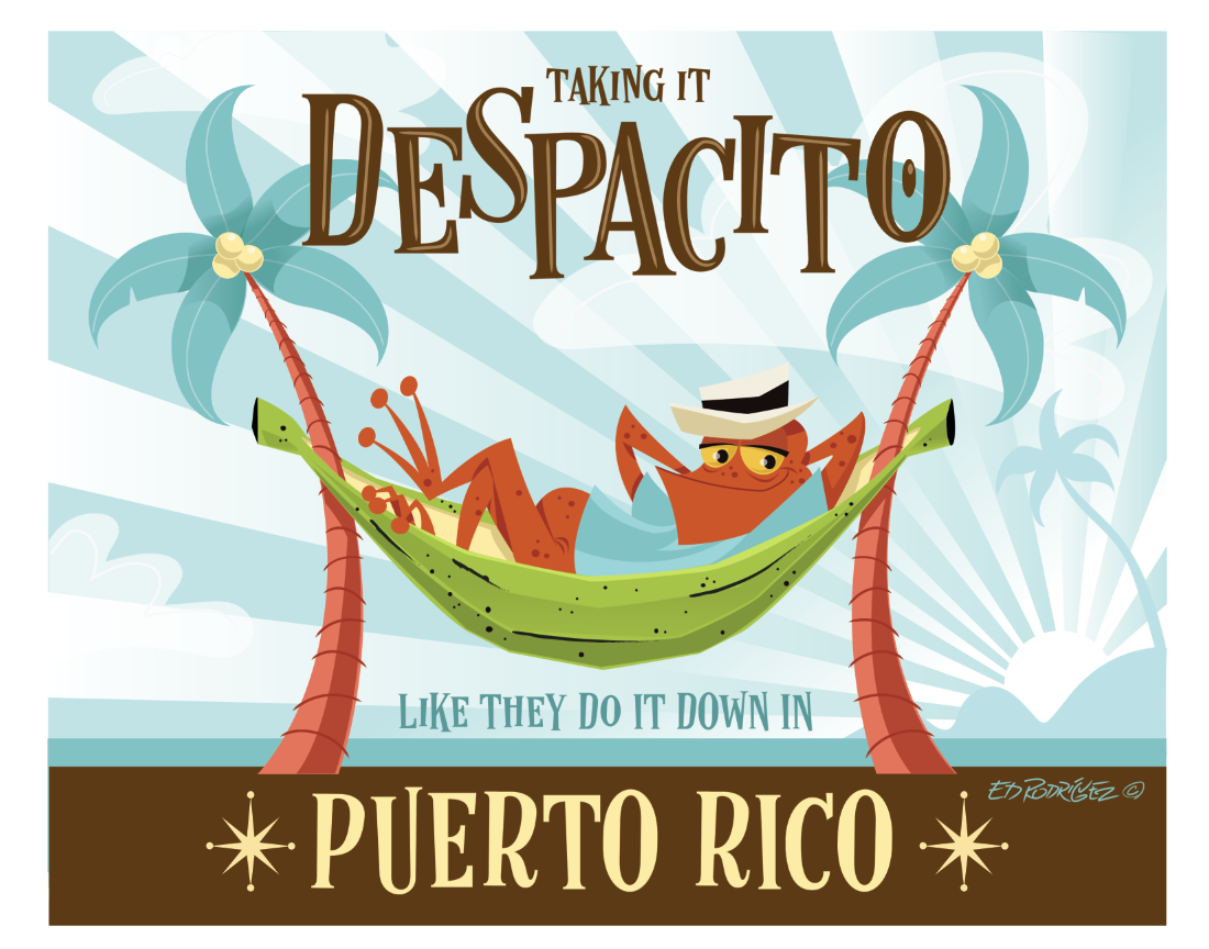 """Image of Taking it Despacito 11x14"""" Matted Art Print (8x10"""" Image) FREE SHIPPING"""
