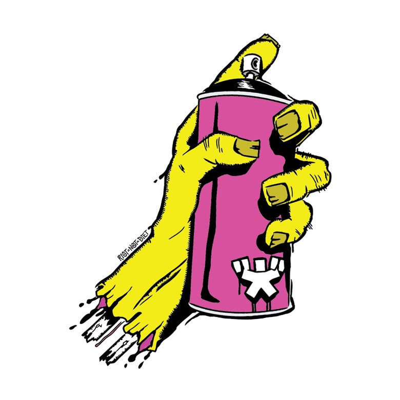 Image of Zombie Hand (Yellow)