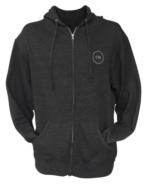 Image of 'Her City' Zip Hoodie - Heather Charcoal
