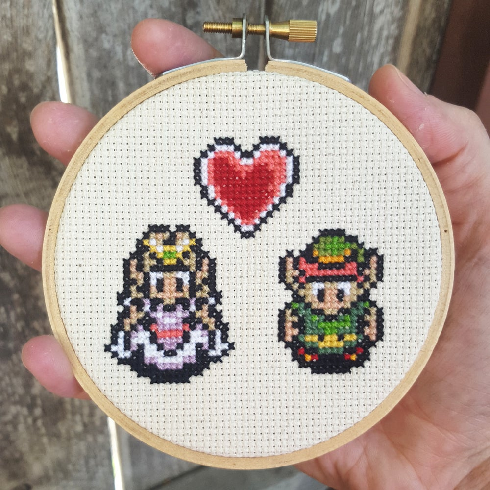 Image of Link Loves Zelda PATTERN PDF