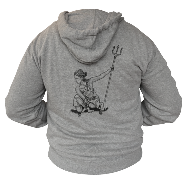 Image of 'Her City' Zip Hoodie - Heather Grey
