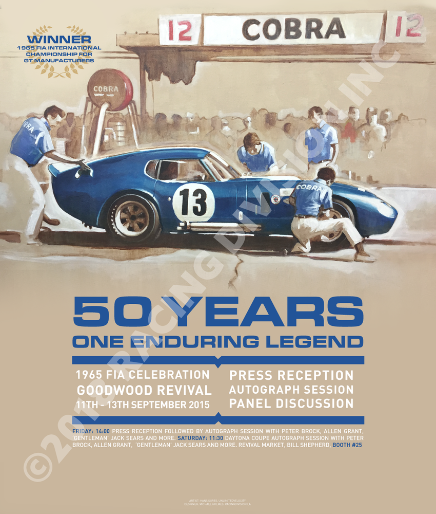 Image of 2015 GOODWOOD REVIVAL COMMEMORATIVE POSTER