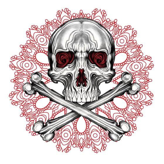 Image of Pirate Medallion Print