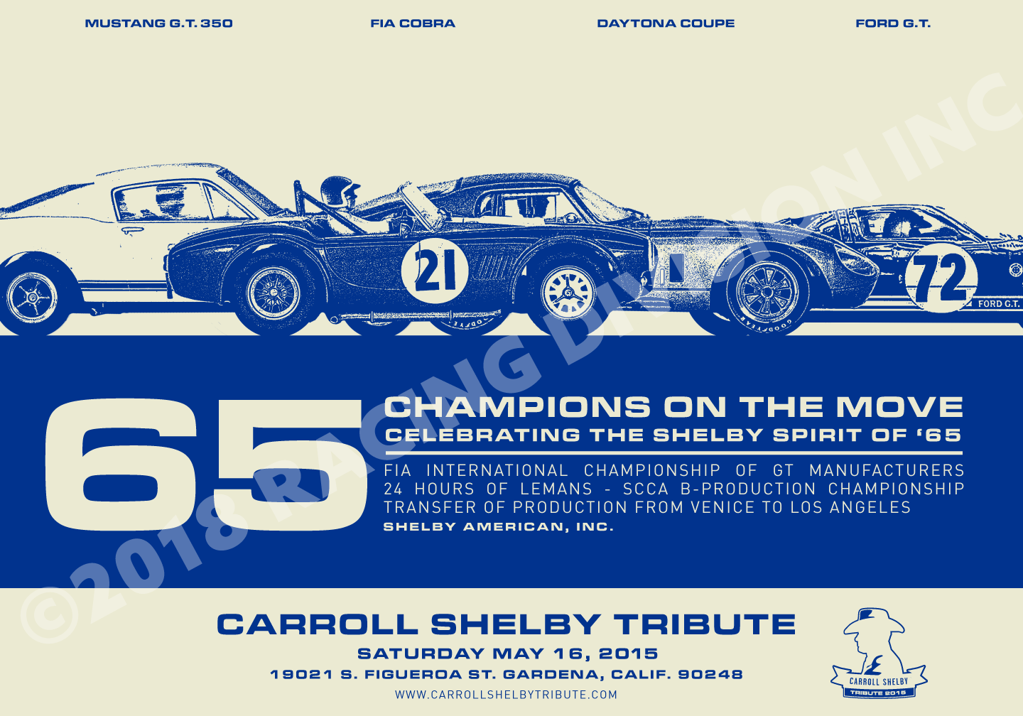 Image of 2015 CARROLL SHELBY TRIBUTE POSTER