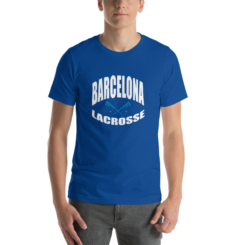 Image of Barcelona Lacrosse T-shirt - blue