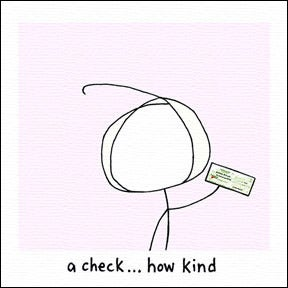 Image of a check... how kind