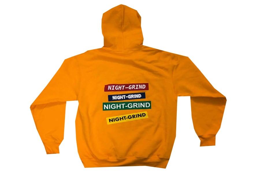 """Image of Night Grind 'Hoodieszn"""" Yellow Hoodie"""