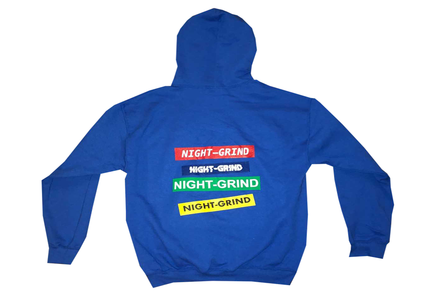 "Image of Night Grind ""hoodieszn"" Royal Hoodie"
