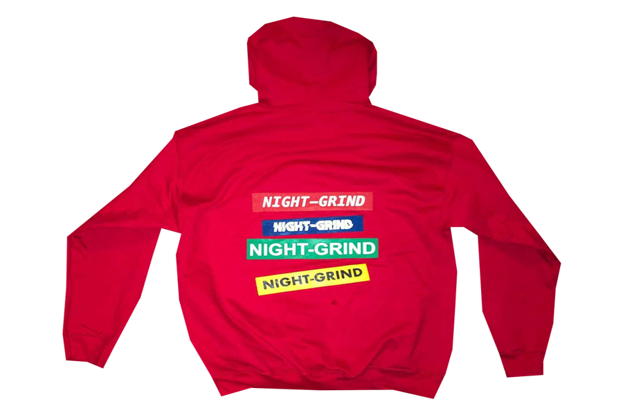 "Image of Night Grind ""Hoodieszn"" Red Hoodie"