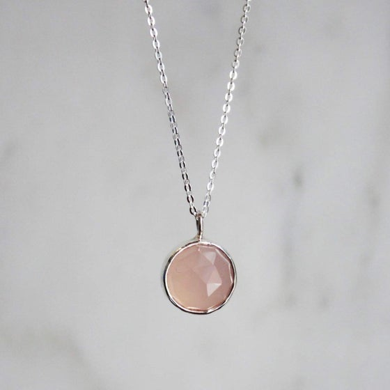 Image of Pink Chalcedony necklace
