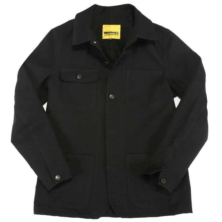 Image of DOMEstics. MADE IN USA Black Canvas Jacket.