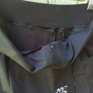 Image of Black drill 4/5 Linea pants