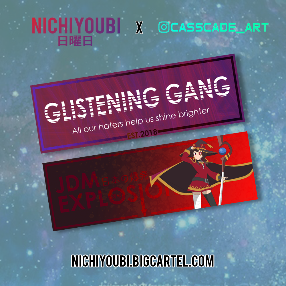 Image of [Nichiyoubi ft. @Casscade_art] Glistening Gang and  Megumin