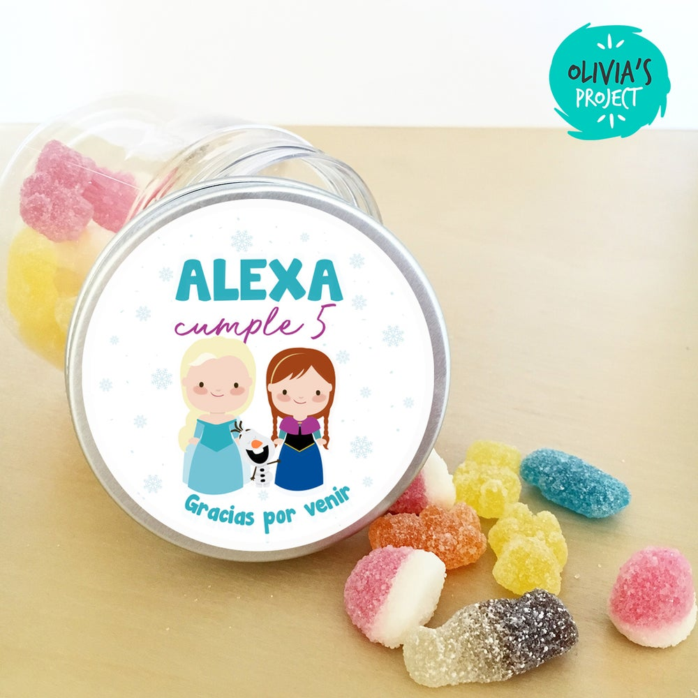 Image of Tarritos de chuches cumple - Frozen