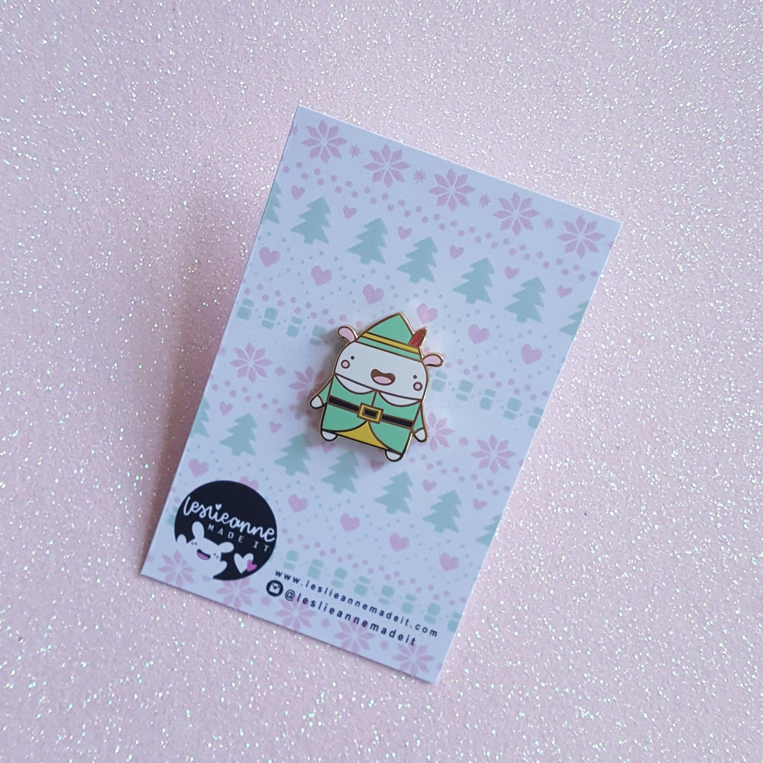 Image of Buddy the Christmas Elf Critter - Hard Enamel Pin