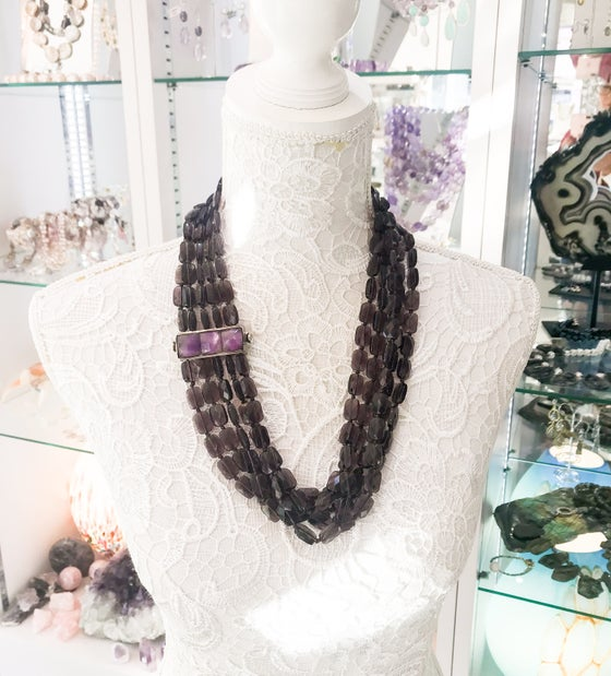 Image of Multi Row Fluorite Statement Necklace