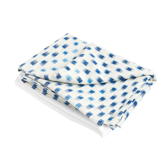 Image of I k a t pillowcase, blue