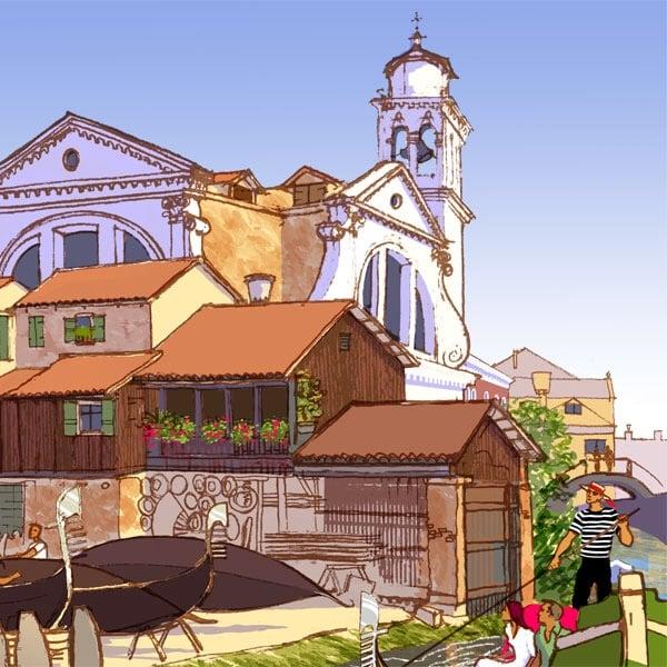 Image of San Treviso Boatyard, Venice