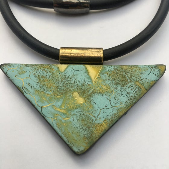 Image of Pale Blue Triangle Pendant